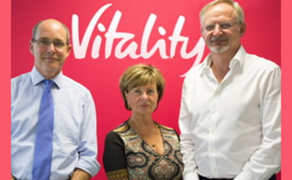 Professor Bruce Braithwaite (left) Director of Clinical Services Alliance Health Group and Ann Copsey CEO at Alliance Health Group are joined by Dr Keith Klintworth (right), Deputy CEO at VitalityHealth